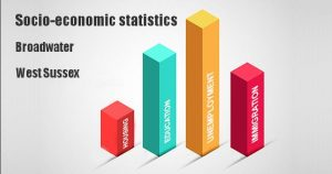 Socio-economic statistics for Broadwater, West Sussex