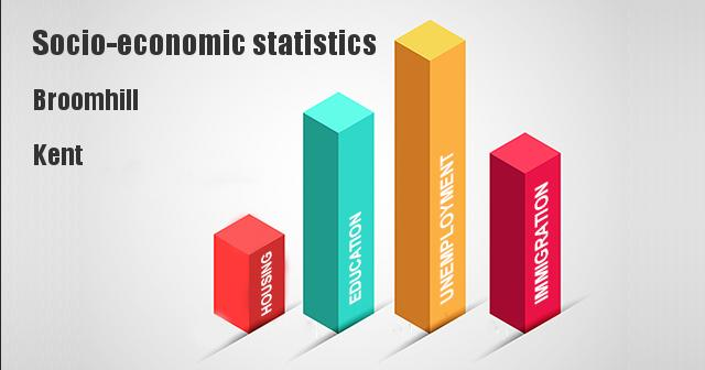 Socio-economic statistics for Broomhill, Kent