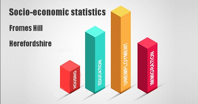 Socio-economic statistics for Fromes Hill, Herefordshire