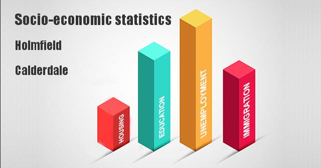 Socio-economic statistics for Holmfield, Calderdale
