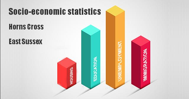 Socio-economic statistics for Horns Cross, East Sussex