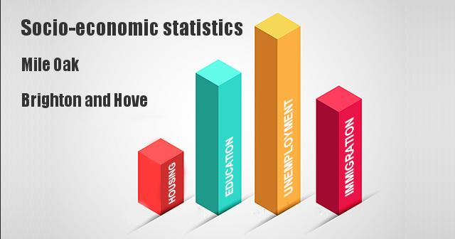 Socio-economic statistics for Mile Oak, Brighton and Hove