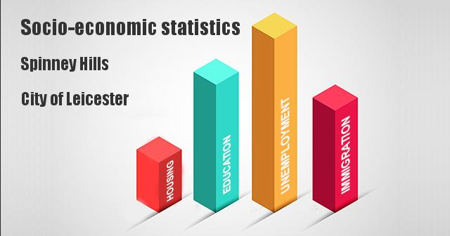 Socio-economic statistics for Spinney Hills, City of Leicester